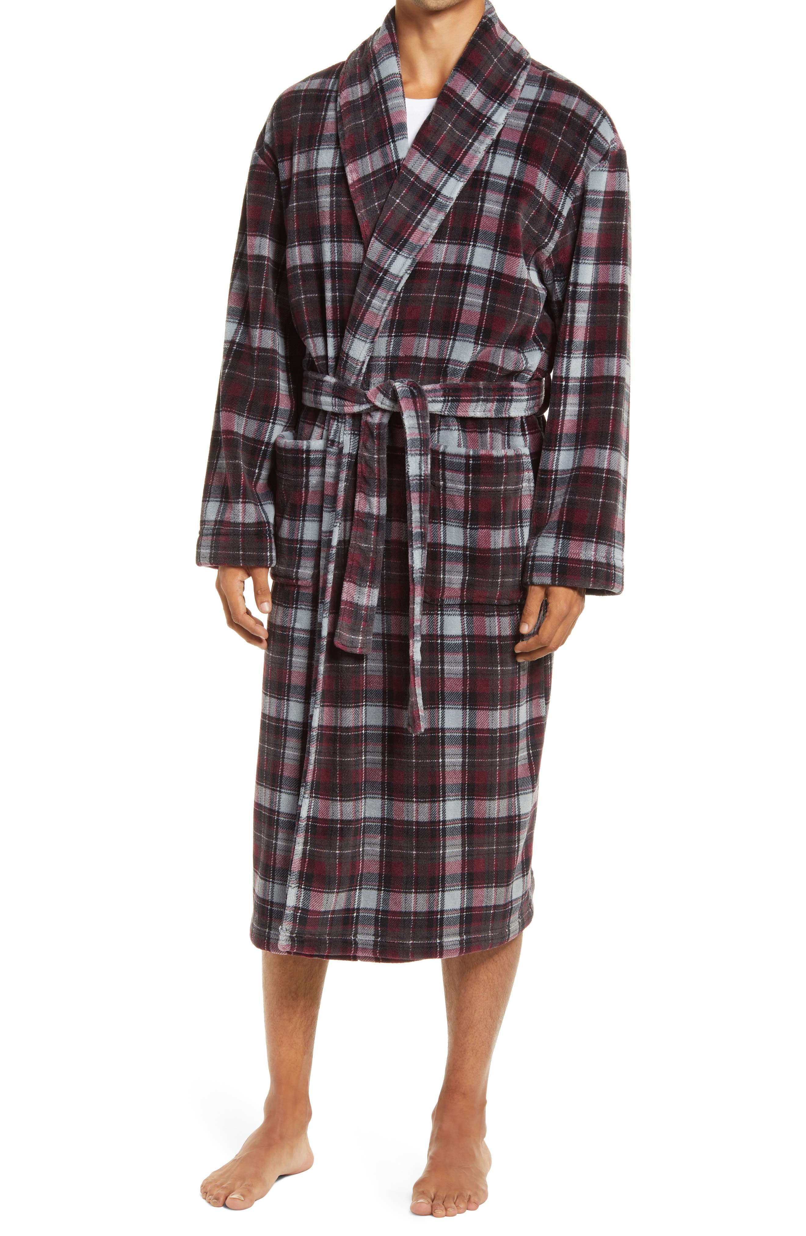 Nostalgic Plaid Plush Robe