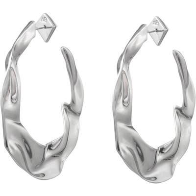 Alexis Bittar Crumpled Hoop Earrings