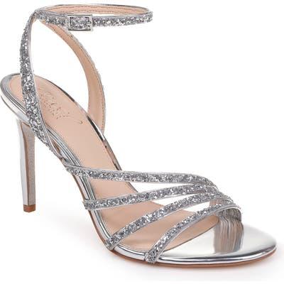 Jewel Badgley Mischka Desiree Glitter Sandal, Metallic