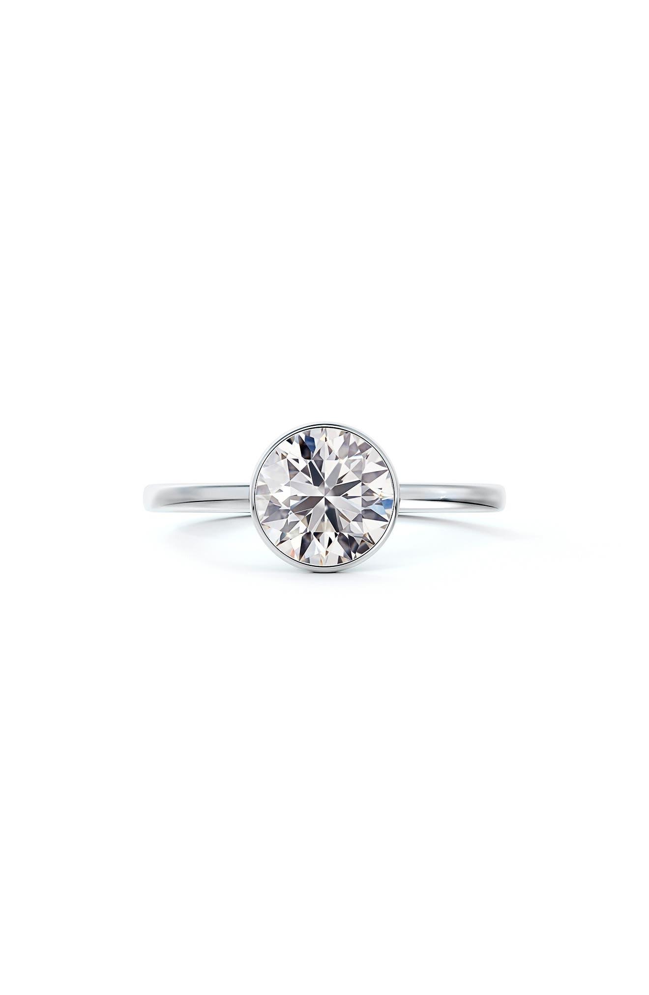 X Michaela Hidden Halo Bezel Set Diamond Engagement Ring
