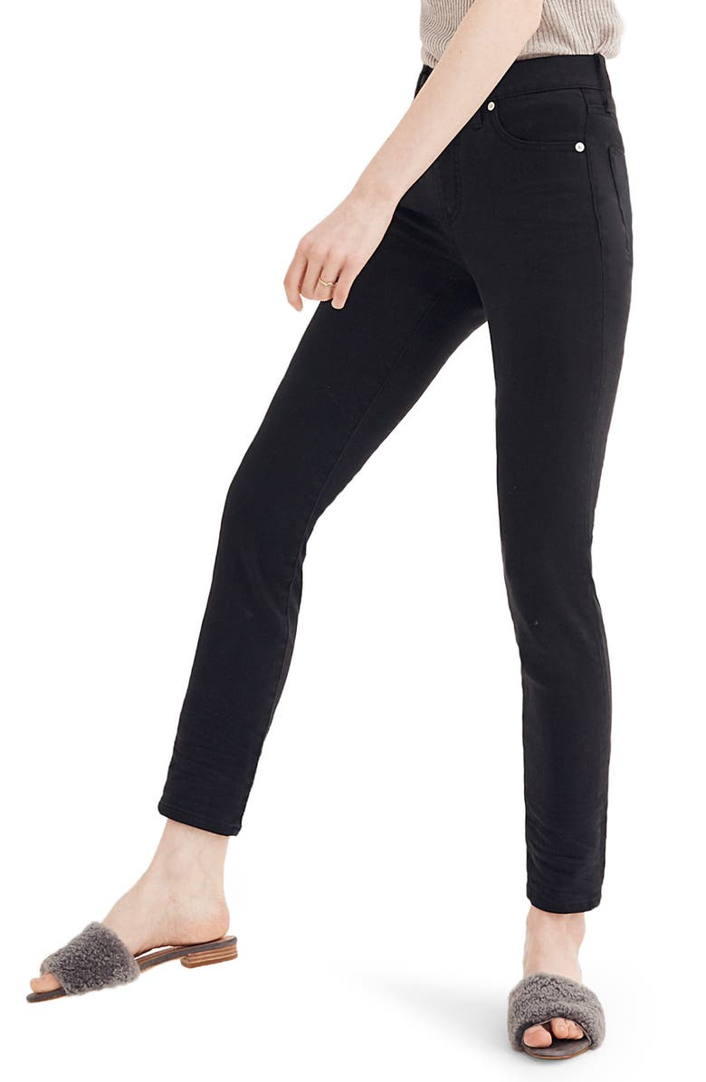 MADEWELL 9-Inch High Waist Ankle Skinny Jeans: Tencel<sup>®</sup> Edition, Main, color, LUNAR