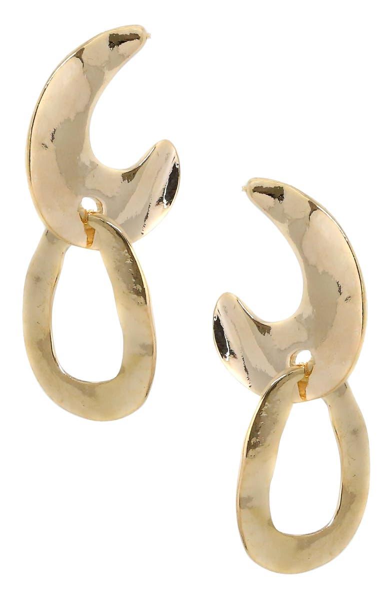 ETTIKA Wavy Drop Earrings, Main, color, GOLD