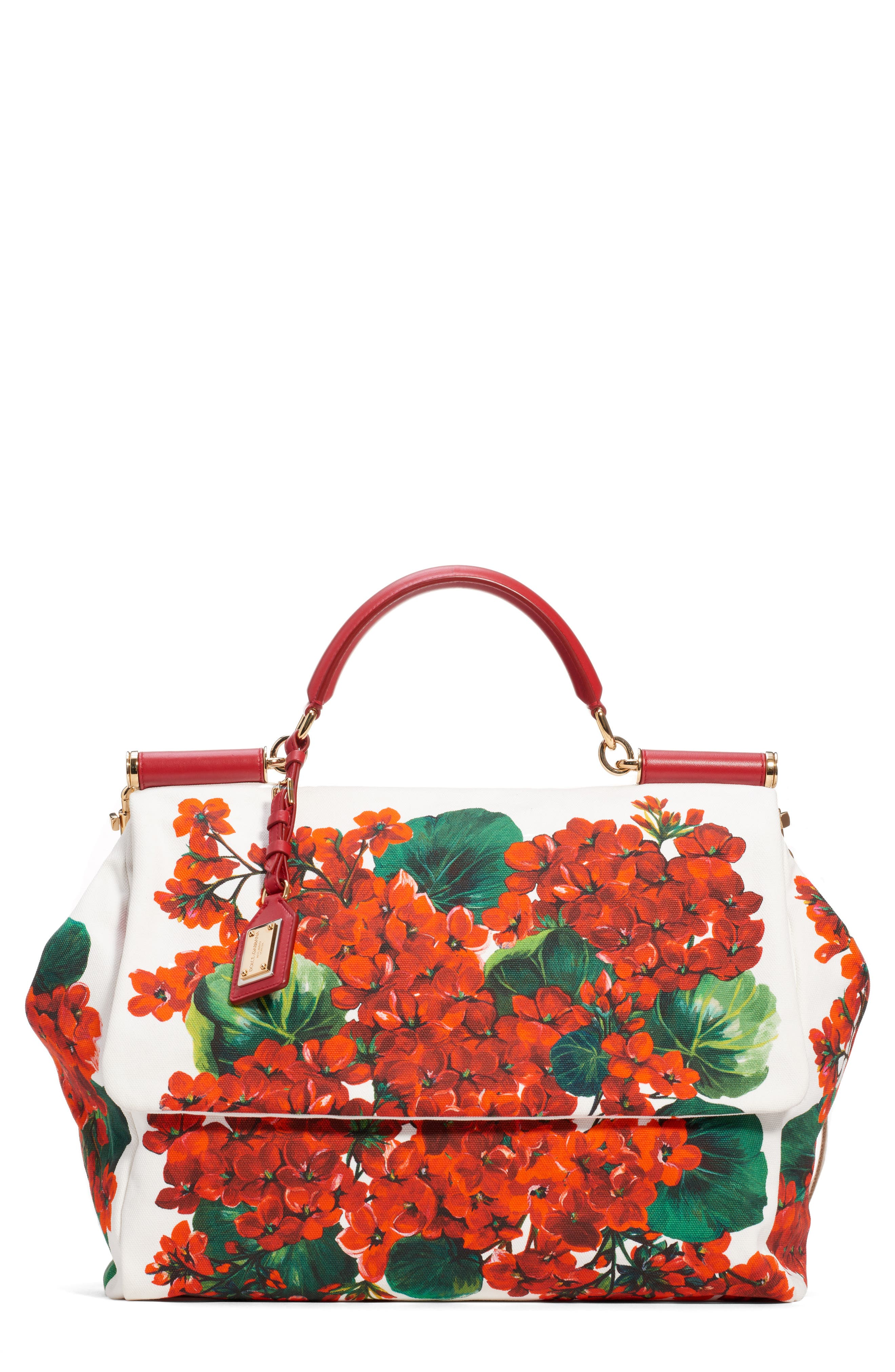 Dolce&gabbana Satchels Large Miss Sicily Floral Satchel