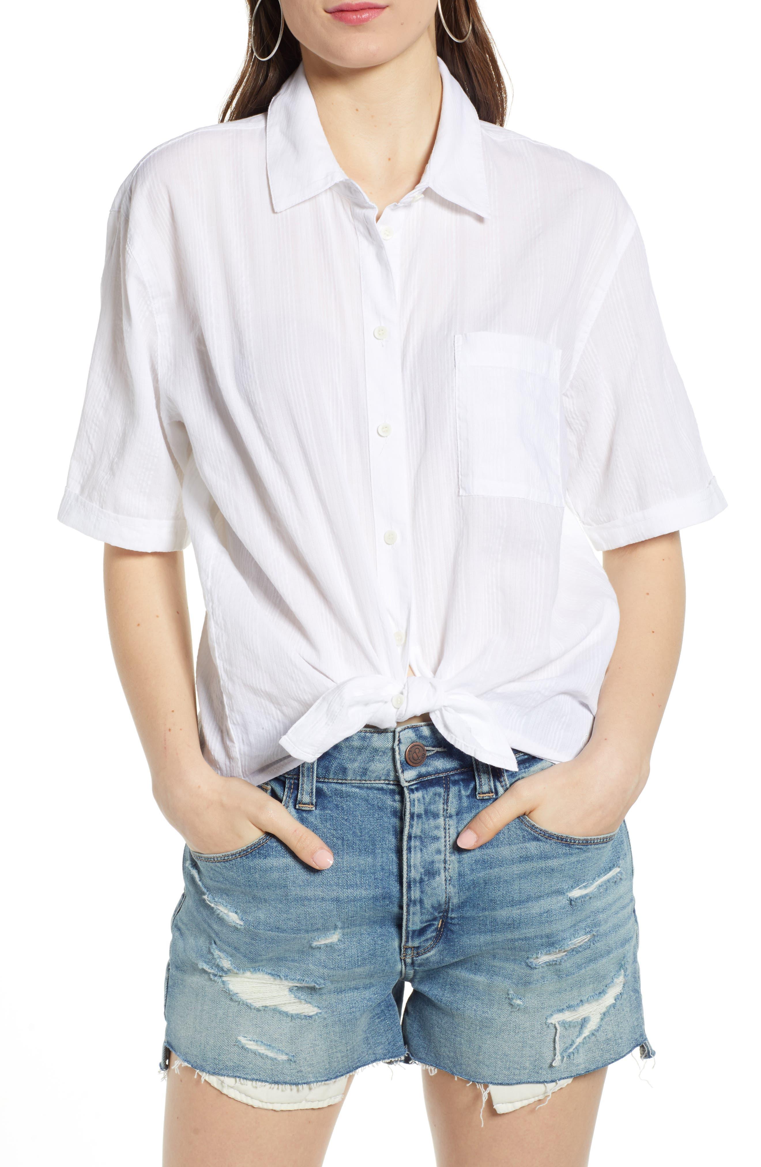 ,                             Stripe Shirt,                             Main thumbnail 1, color,                             WHITE SHALLIS STRIPE