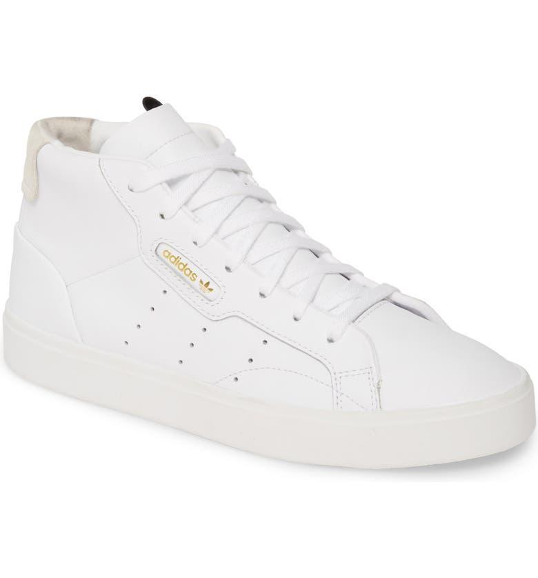 ADIDAS Sleek Mid Sneaker, Main, color, WHITE/ WHITE/ CRYSTAL WHITE