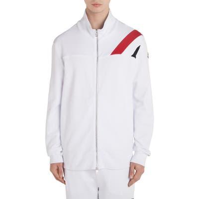 Moncler Fleece Zip Jacket, White