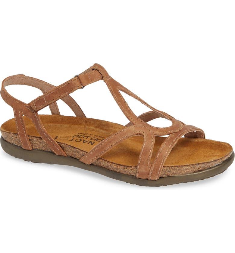 NAOT 'Dorith' Sandal, Main, color, LATTE BROWN LEATHER