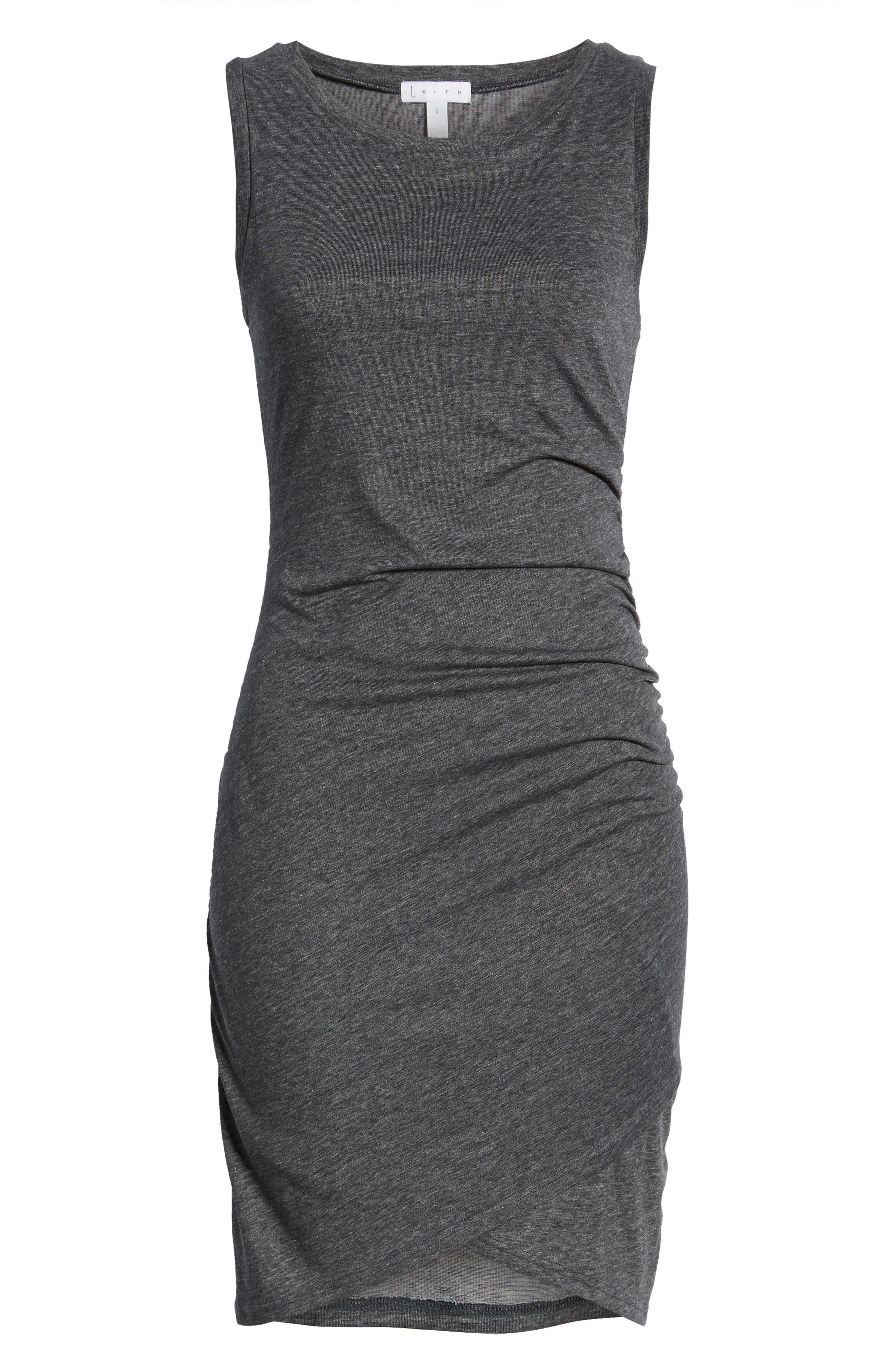,                             Ruched Body-Con Tank Dress,                             Alternate thumbnail 7, color,                             GREY MEDIUM CHARCOAL HEATHER
