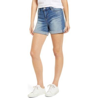 Liverpool Vickie Roll Cuff Denim Shorts, Blue