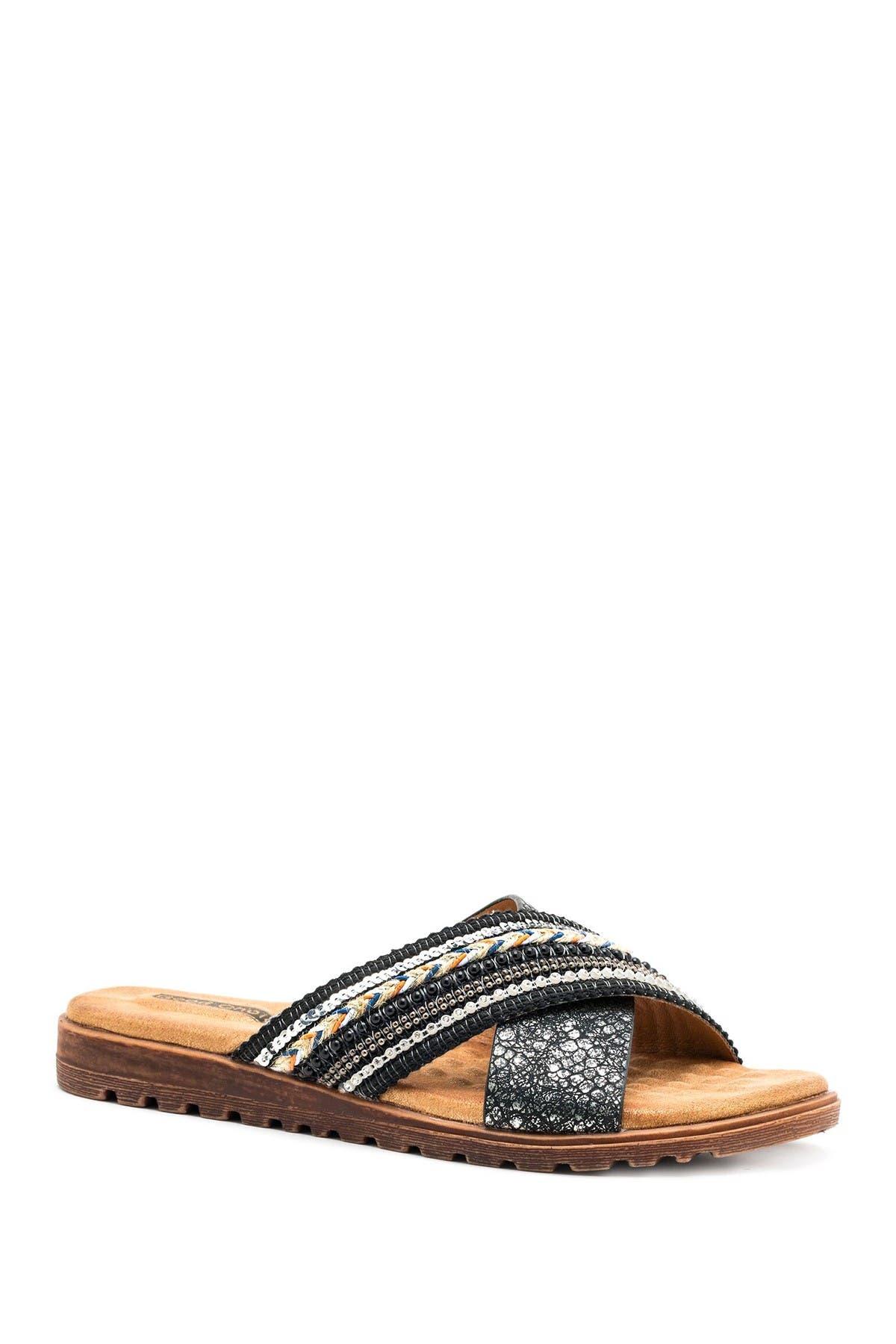 GC Shoes | Ari Beaded Crisscross Flat