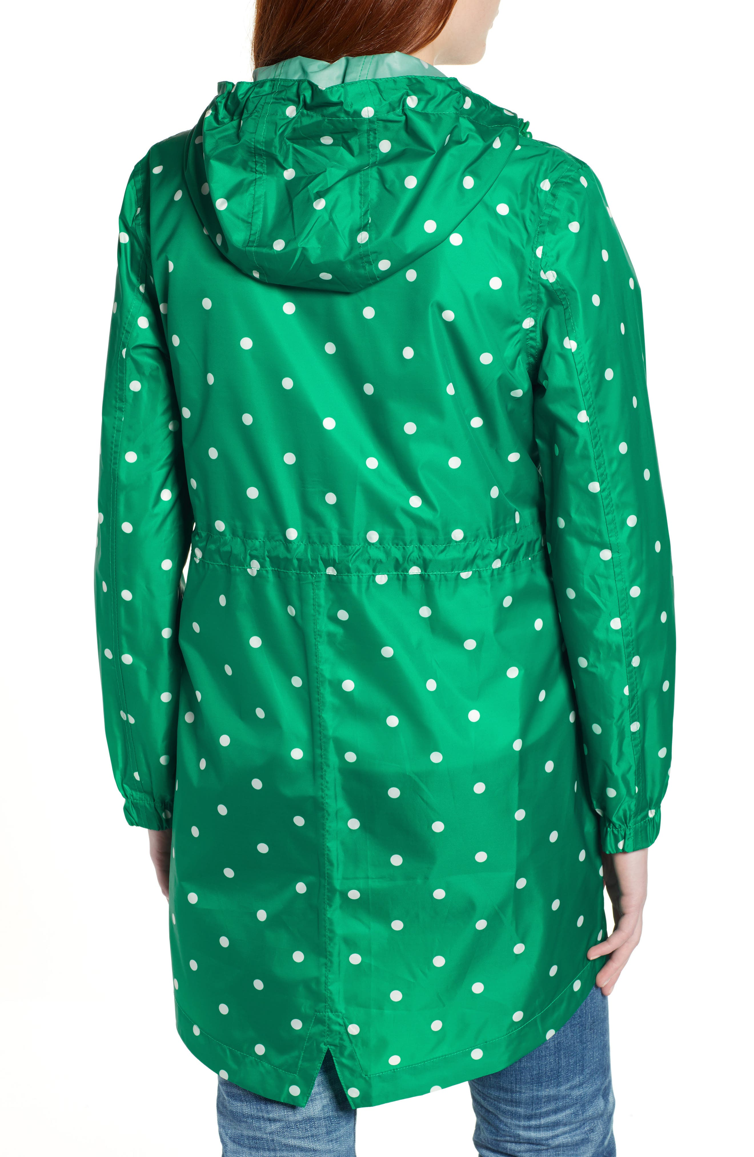 ,                             Go Lightly Waterproof Pack Away Hooded Jacket,                             Alternate thumbnail 2, color,                             GREEN SPOT