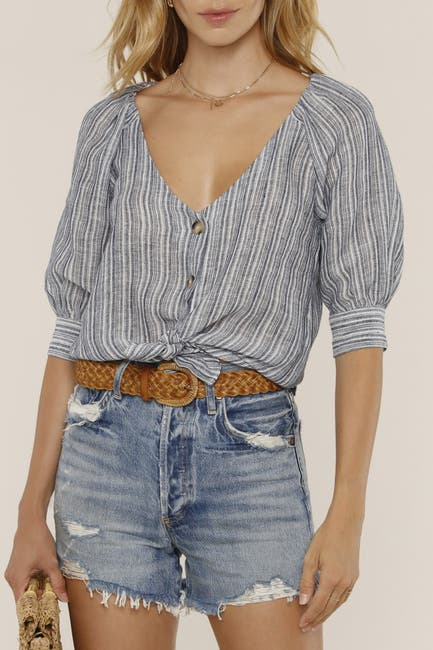Image of Heartloom Mercy Tie Hem Stripe Top