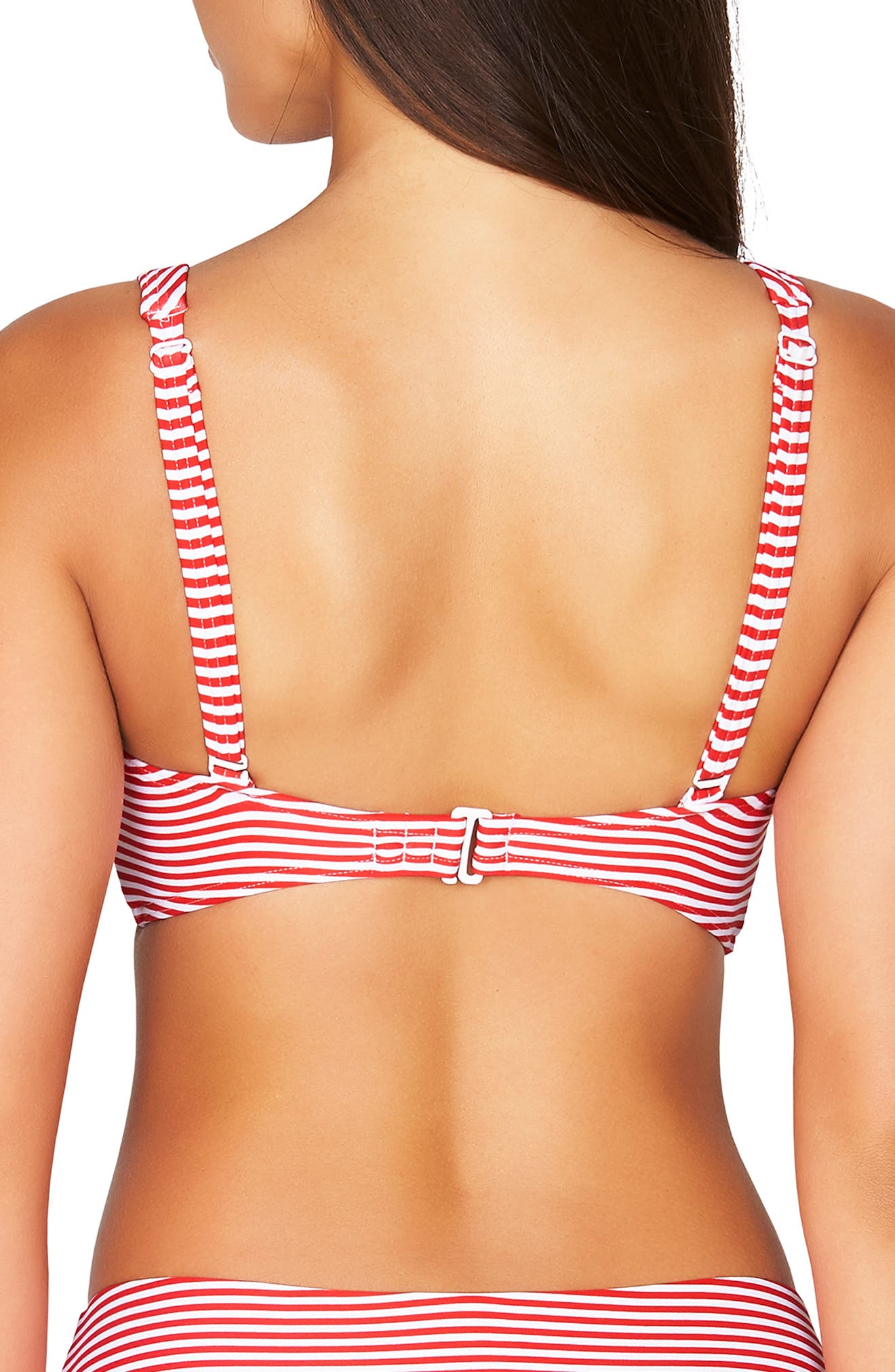 ,                             Sorrento Stripe Bikini Top,                             Alternate thumbnail 2, color,                             RED