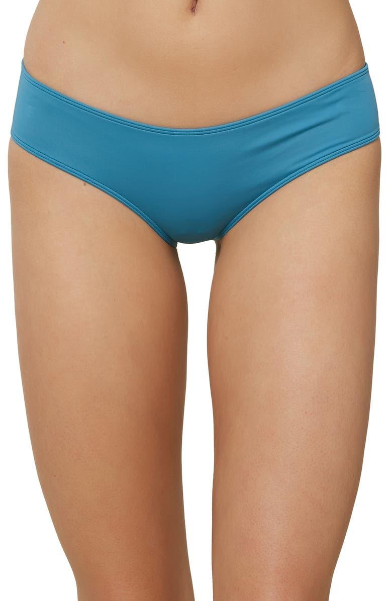 O'NEILL Salt Water Solids Hipster Bikini Bottoms, Main, color, OCEAN