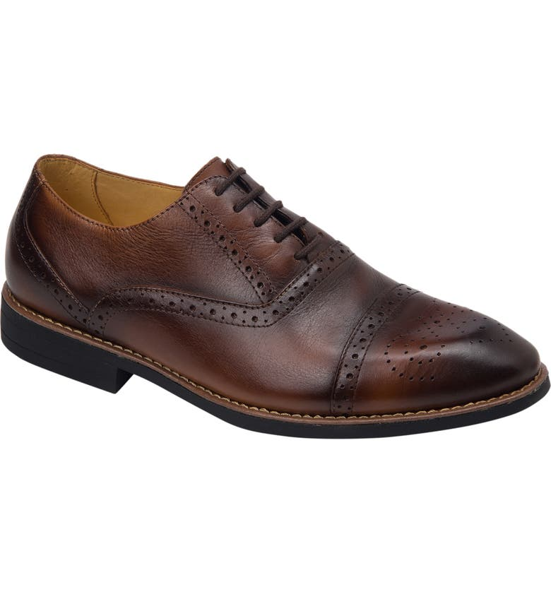 SANDRO MOSCOLONI Murali Cap Toe Oxford, Main, color, BROWN LEATHER