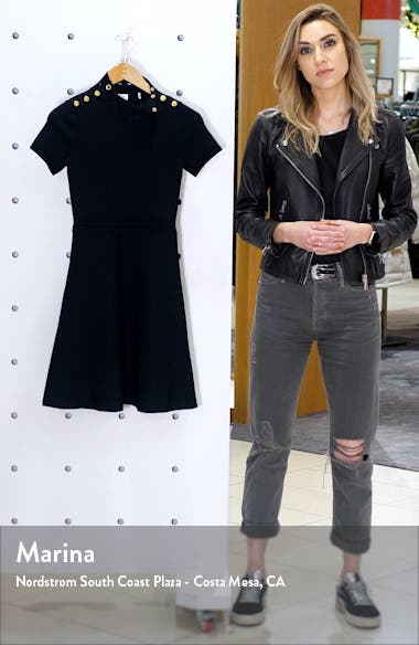 Liora Fit & Flare Sweater Dress, sales video thumbnail