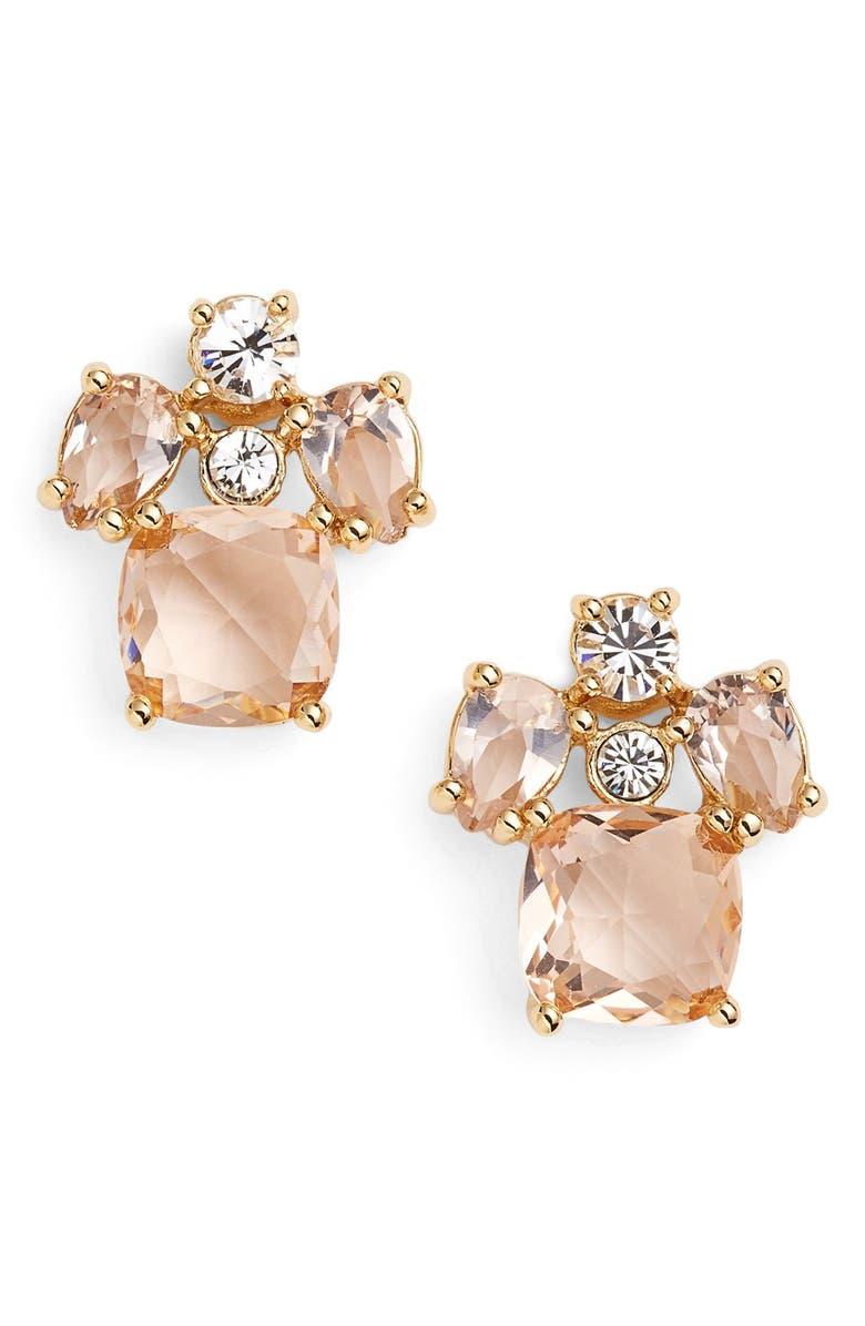 KATE SPADE NEW YORK 'make me blush' stud earrings, Main, color, 650