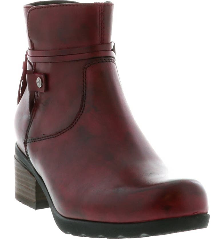 WOLKY Idalia Bootie, Main, color, OXBLOOD LEATHER