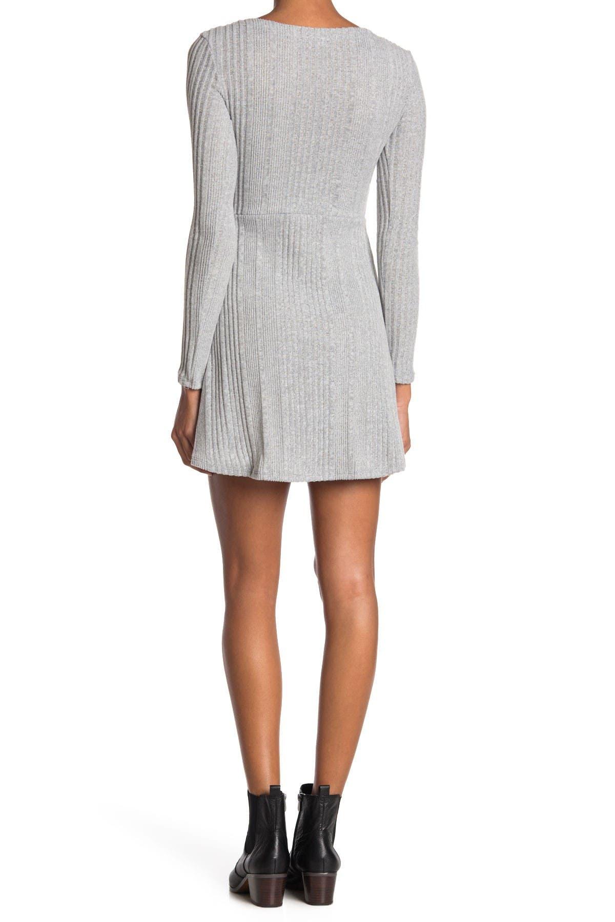 Image of Velvet Torch V-Neck Skater Sweater Dress
