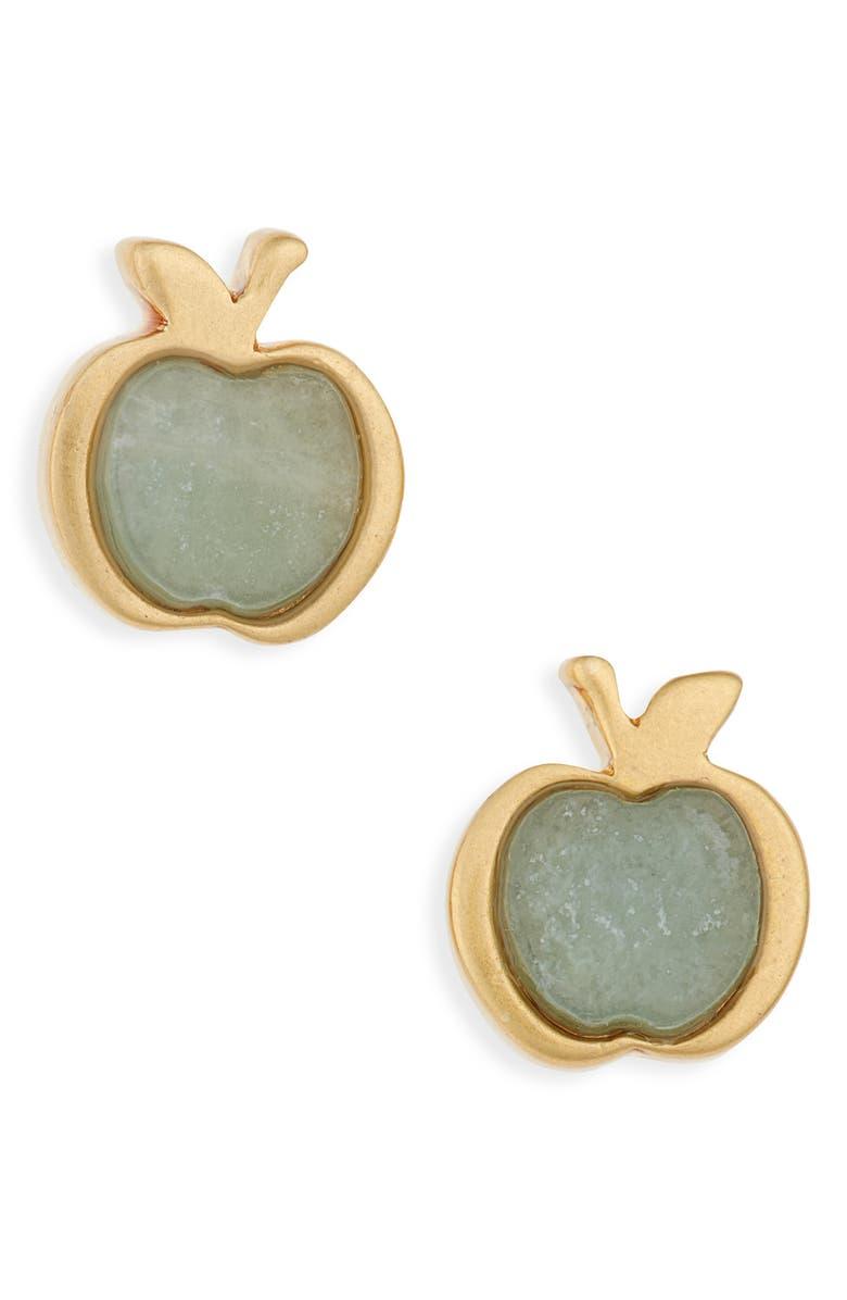 MADEWELL Amazonite Apple Stud Earrings, Main, color, 440