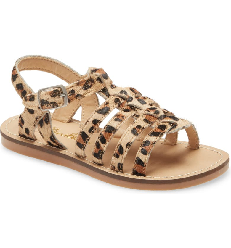 MINI BODEN Genuine Calf Hair Gladiator Sandal, Main, color, 200