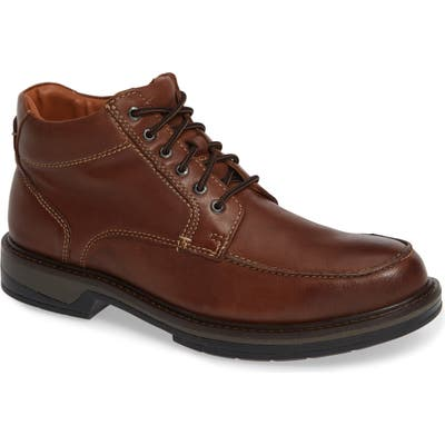 Johnston & Murphy Rutledge Waterproof Moc Toe Boot, Brown
