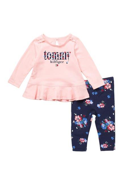 Image of Tommy Hilfiger Brand Logo Tunic & Leggings 2-Piece Set