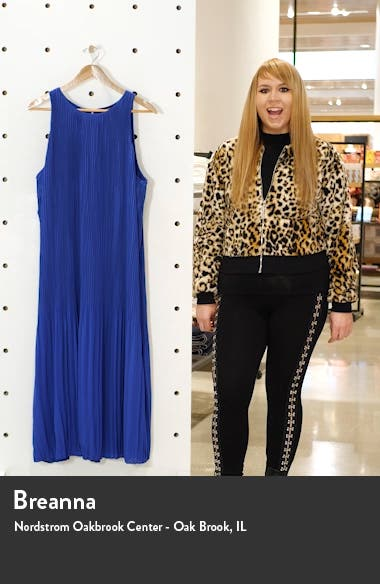Pleated Sleeveless Midi Dress, sales video thumbnail