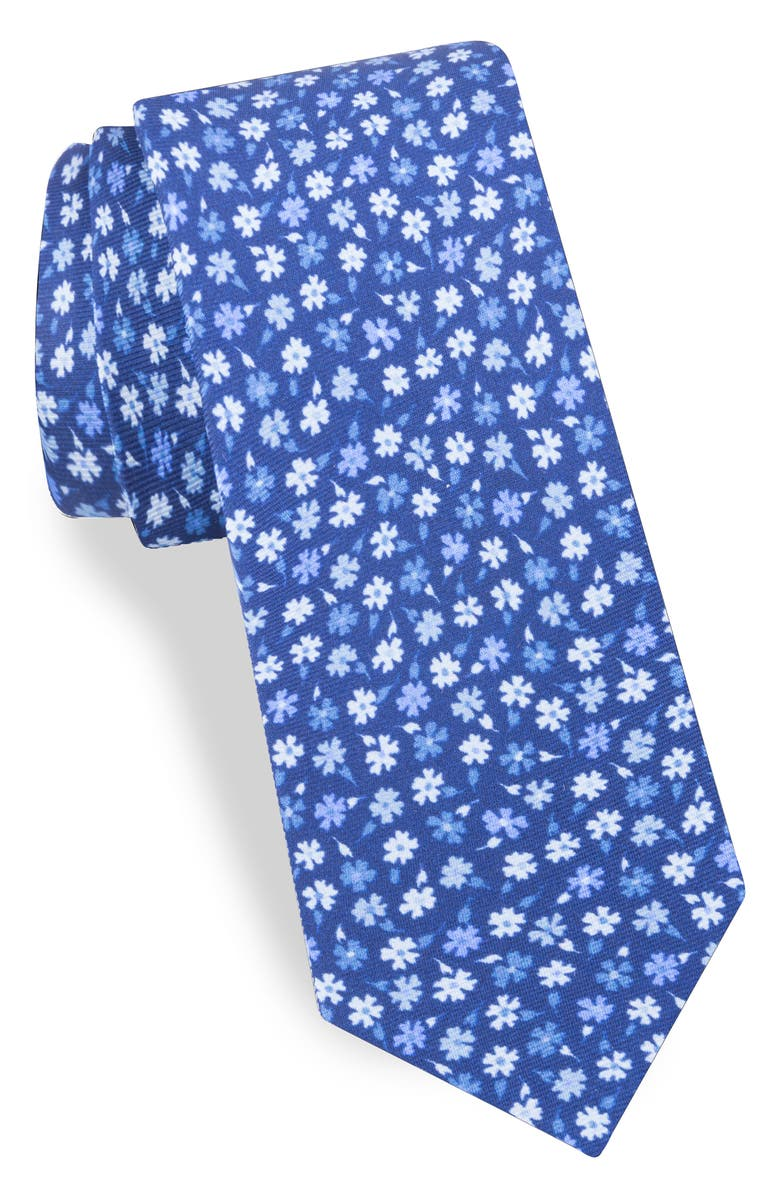 TED BAKER LONDON Floral Silk Tie, Main, color, LIGHT BLUE