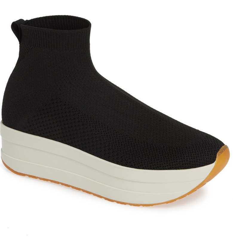 VAGABOND SHOEMAKERS Casey Platform Sock Sneaker, Main, color, BLACK FABRIC