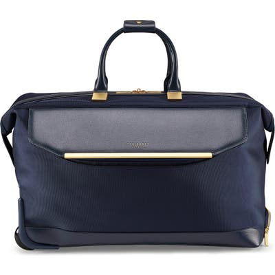 Ted Baker London Large Albany Rolling Duffle Bag - Blue