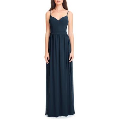 Levkoff Chiffon Gown, Blue