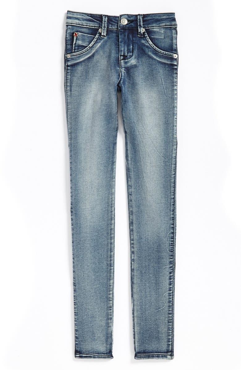 HUDSON KIDS 'Collin' Flap Pocket Skinny Jeans, Main, color, 020