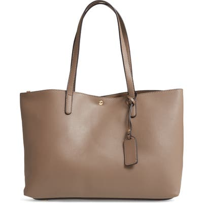 Sole Society Zeda Faux Leather Tote - Beige