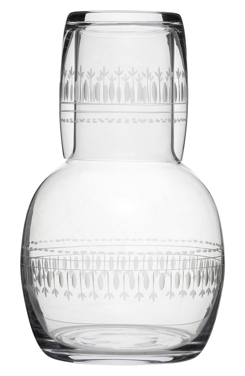 THE VINTAGE LIST Ovals Carafe & Glass, Main, color, CLEAR