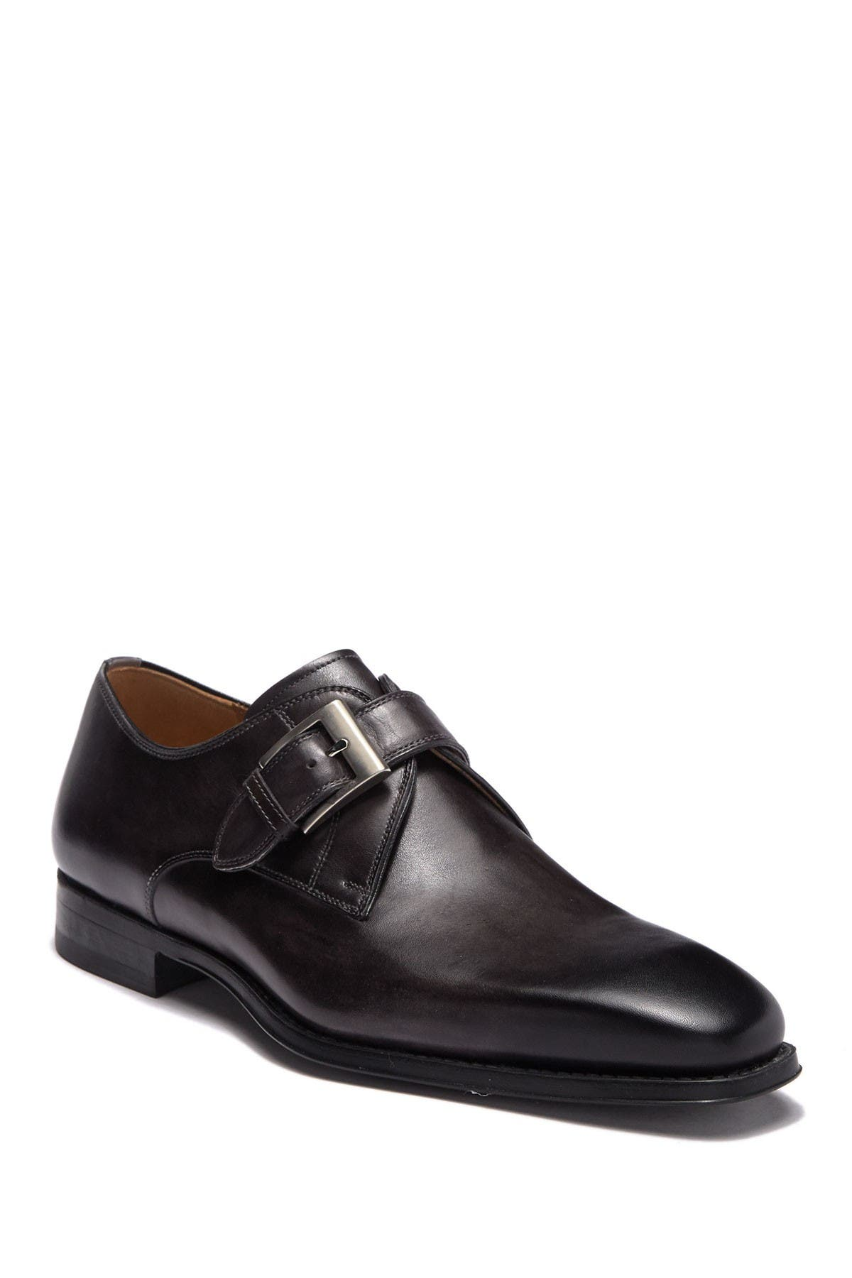 Image of Magnanni Tudanca Leather Monk Strap Loafer - Wide Width Available