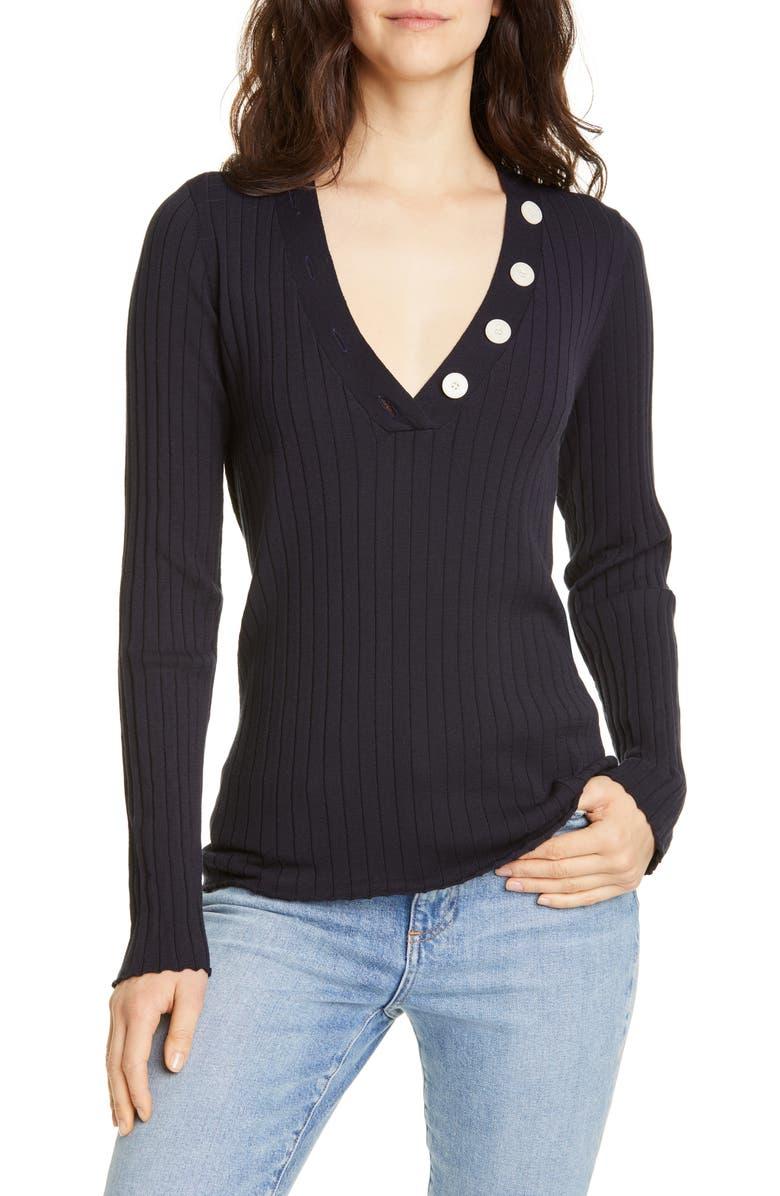 JOIE Anastasia V-Neck Sweater, Main, color, 410