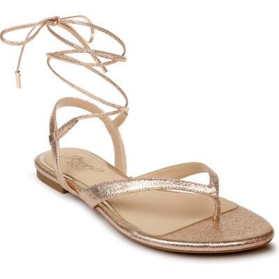 Jewel Badgley Mischka Nolana Lace-Up Sandal- Metallic