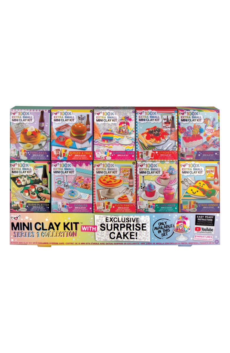 FASHION ANGELS 10-Pack Mini Clay Kit, Main, color, ASSORTED