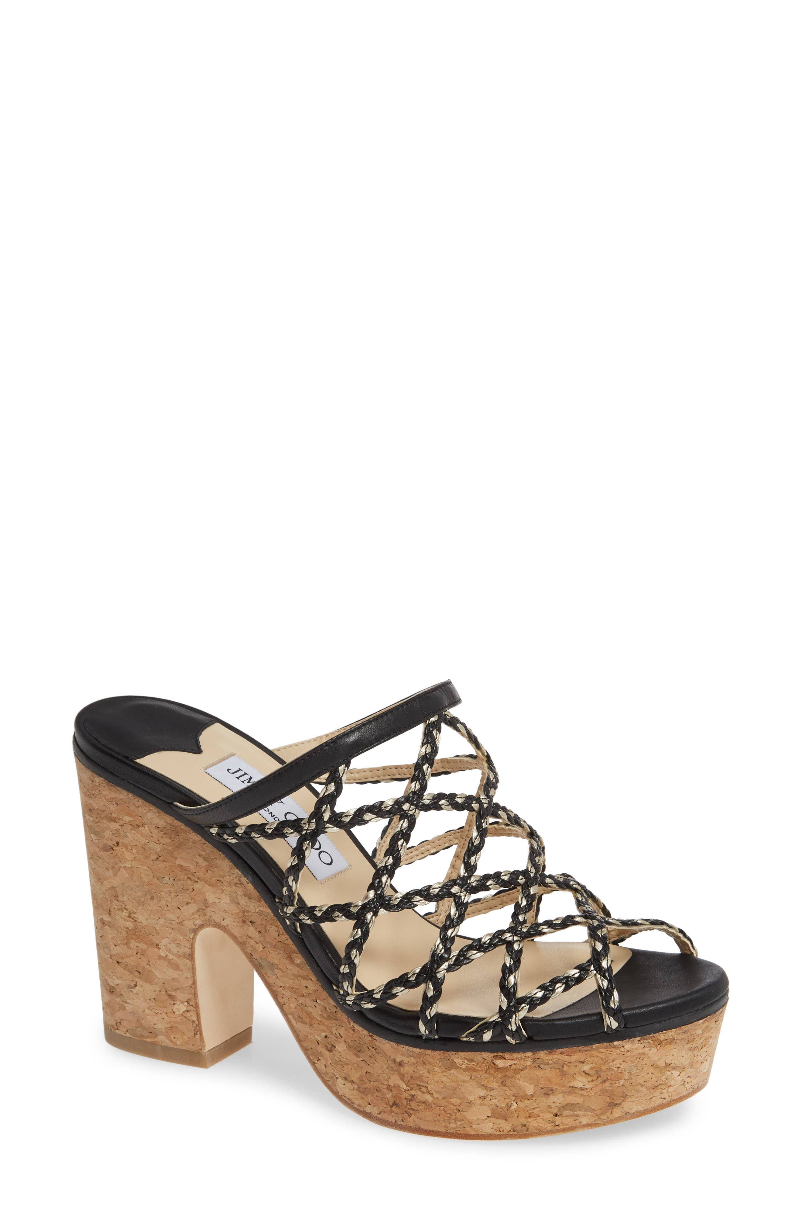 Jimmy Choo Dallina Platform Slide Sandal, Black