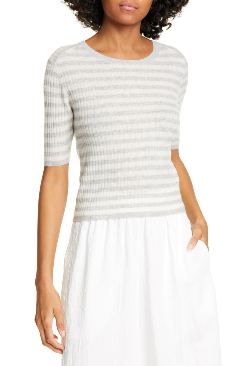 Vince Stripe Rib Cashmere Sweater