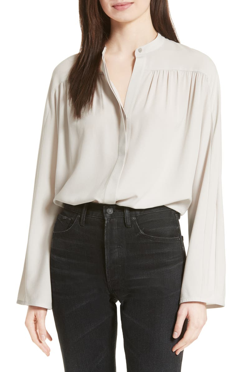 bf130c43dfbbff Shirred Silk Blouse, Main, color, 020