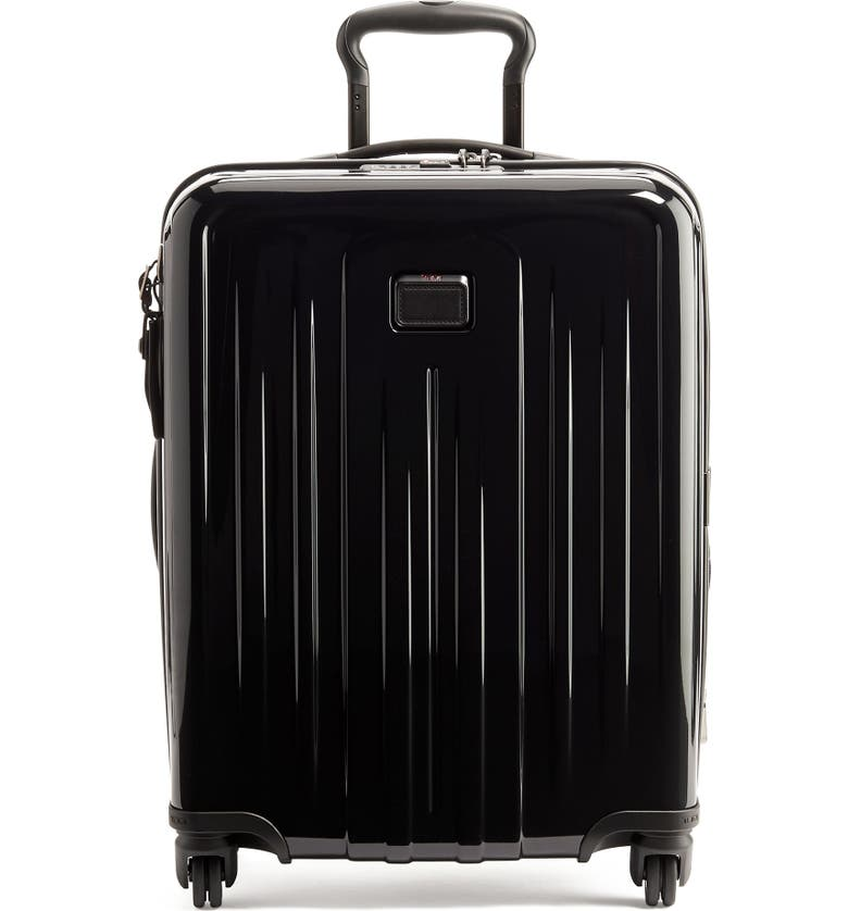 TUMI V4 Collection 22-Inch International Expandable Spinner Carry-On, Main, color, BLACK