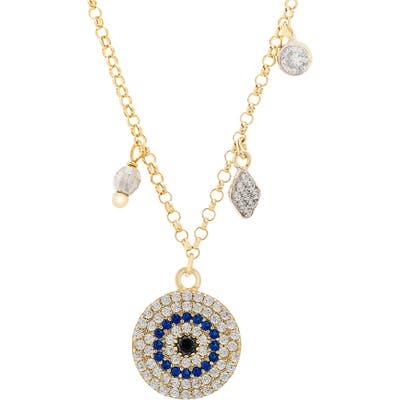 Lesa Michele Evil Eye Pendant Necklace