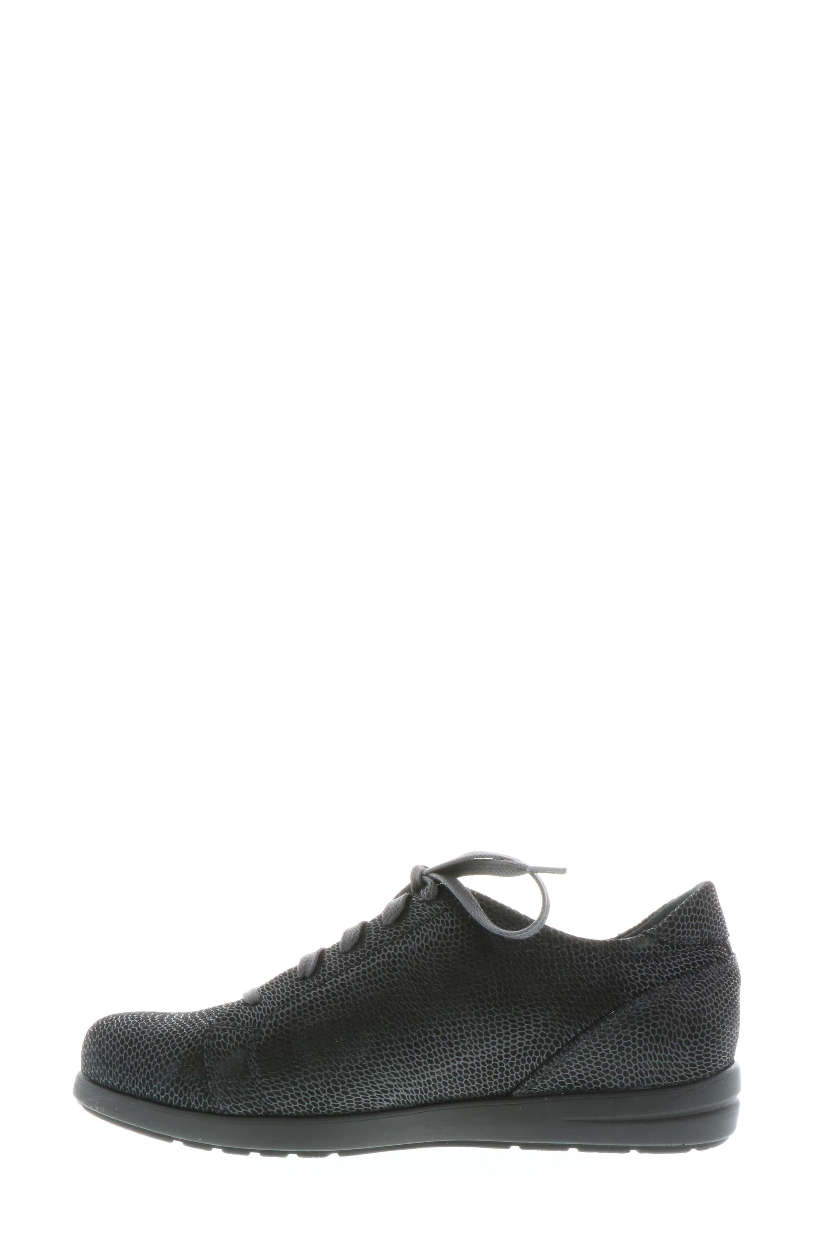 ,                             Kinetic Sneaker,                             Alternate thumbnail 8, color,                             BLACK NUBUCK LEATHER