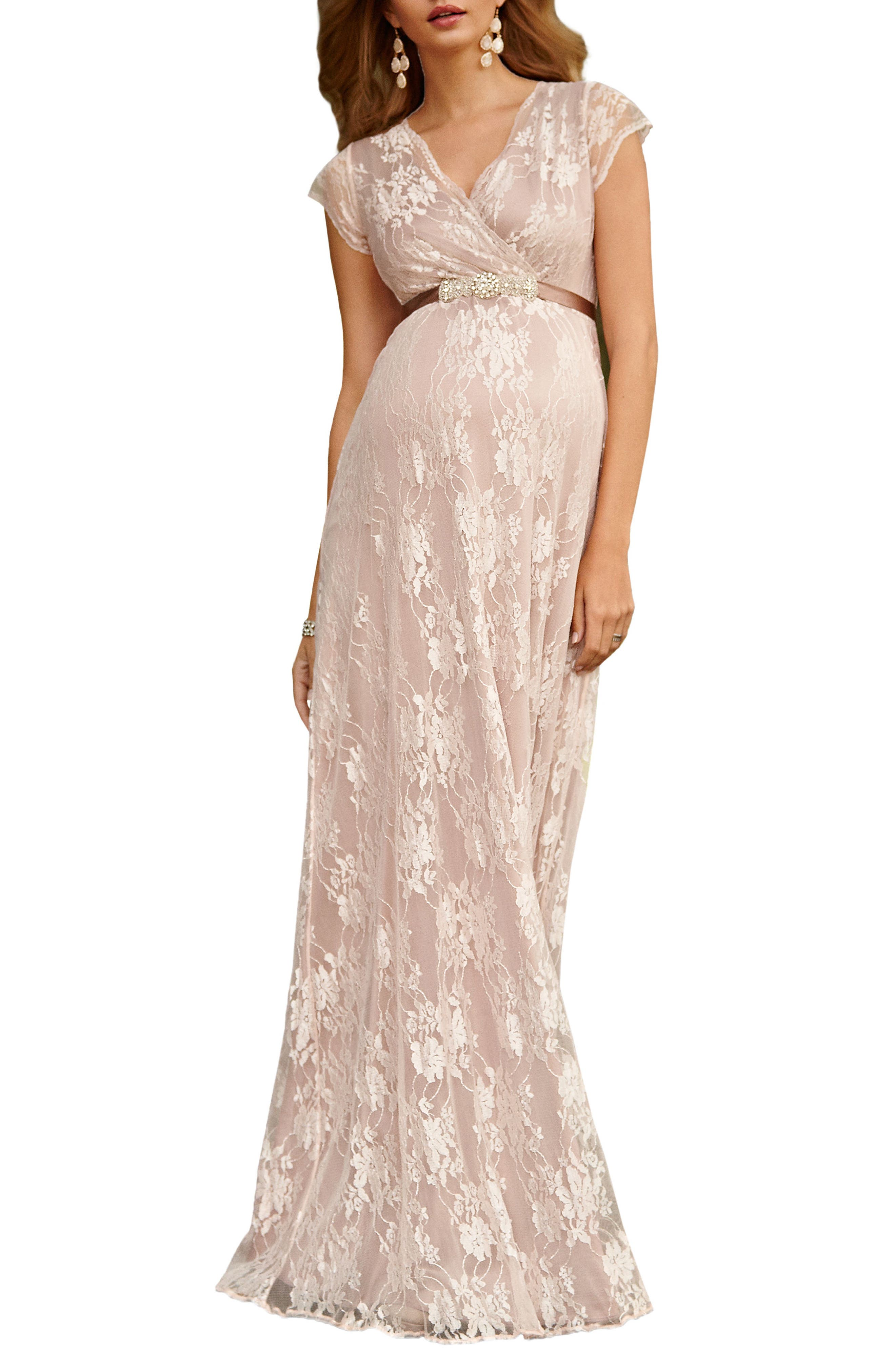 Tiffany Rose Eden Lace Maternity Gown, Pink