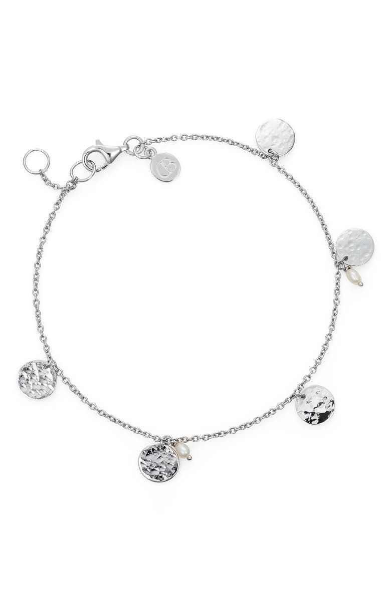 CLAUDIA BRADBY Ripple Disc Pearl Bracelet, Main, color, 040