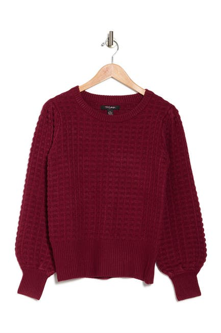Image of Love by Design Italy Puff Texture Sweater