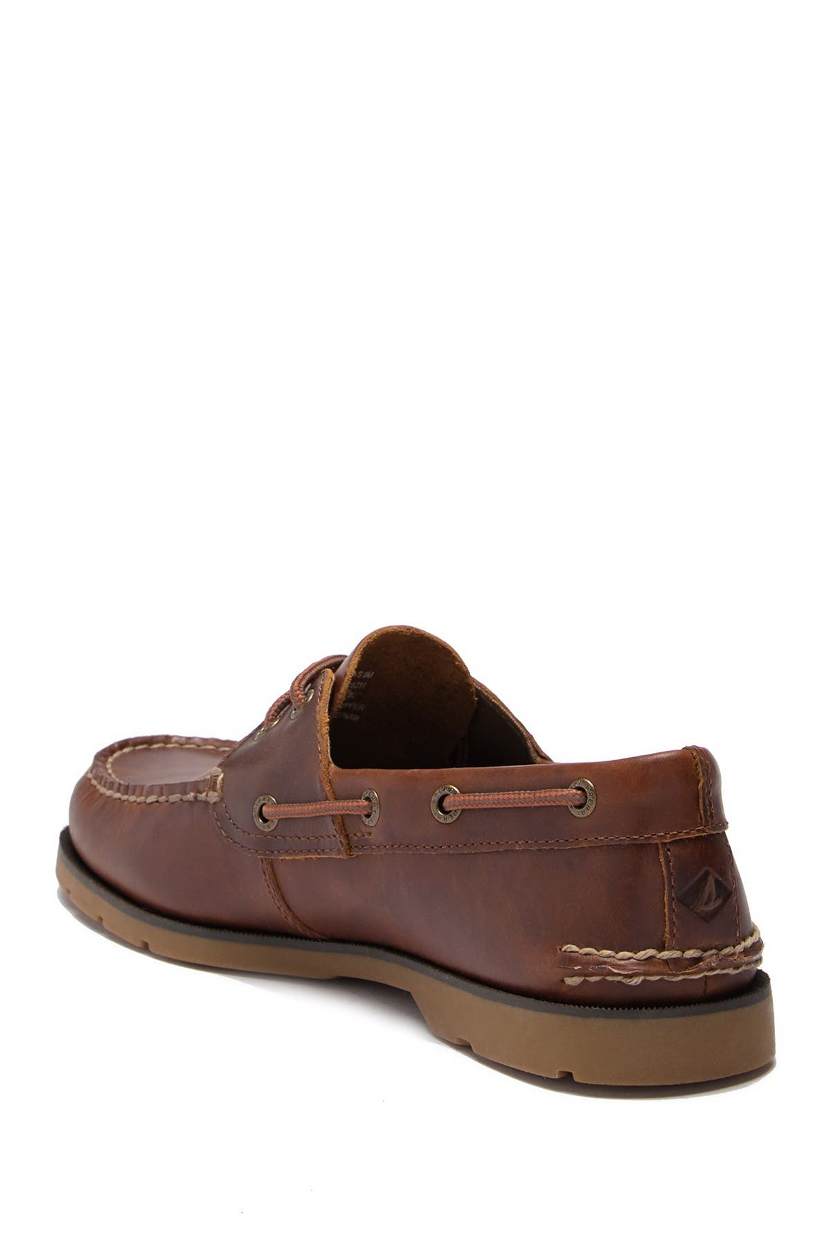 Image of Sperry Leeward 2-Eye Yacht Club Leather Boat Shoe - Wide Width Available