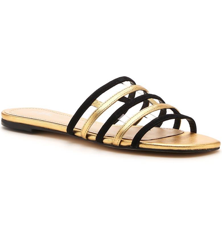 BOTKIER Strappy Slide Sandal, Main, color, BLACK SUEDE